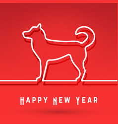 dog - chinese symbol new year vector image
