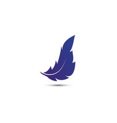 Feather logo icon template vector