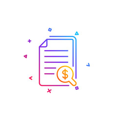 financial documents line icon audit or accounting vector image