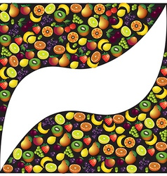 Fruits abstract composition different fruits icon vector image