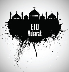 Grunge eid mubarak background vector
