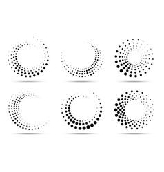 halftone circular dotted frames circle halftone vector image