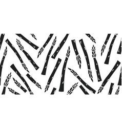 Hand drawn asparagus seamless pattern organic vector