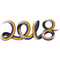 Happy new year on rainbow vector