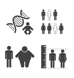 heredity icons vector image