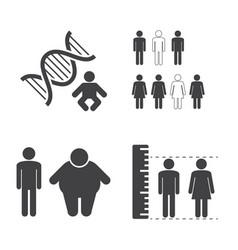 Heredity icons vector