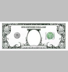 Hundred dollars bill experimental design vector image