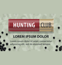 hunting club open season poster vector image