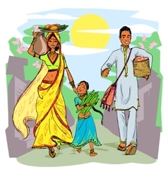 Indian family vector image