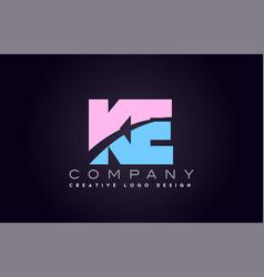 Ke alphabet letter join joined letter logo design vector