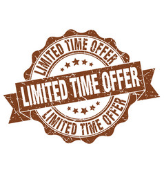 Limited time offer stamp sign seal vector