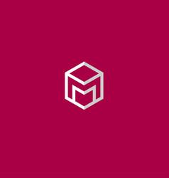 m letter monogram vector image