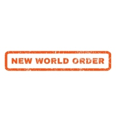New World Order Rubber Stamp vector