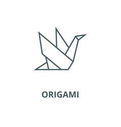 Origami line icon linear concept outline vector