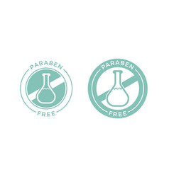 Paraben free healthy cosmetic label vector