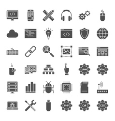 Programming Solid Web Icons vector image