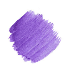 Purple abstract watercolor isolated on white vector