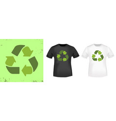 Recycle arrows t-shirt print stamp for tee t vector