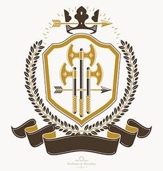 Retro vintage Insignia design element vector image