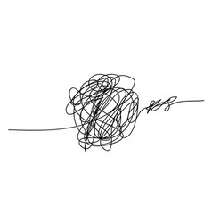 scribble chaos line brush stroke doodle vector image