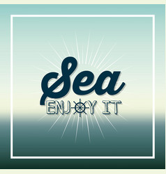 Sea concept design vector