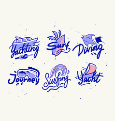 set banners or icons for summer water fun vector image