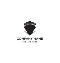 Ship or boat or vessel logo design concept vector