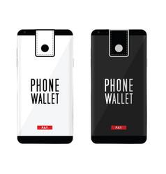 Smartphone wallet vector