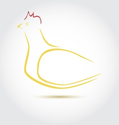 Stylized image of an hen vector image