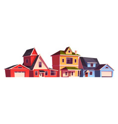 suburb houses residential cottages real estate vector image