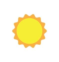 sun icon symbol vector image
