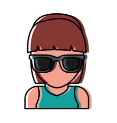 sunglasses accessory icon vector image
