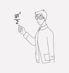 Teacher icon line element of vector