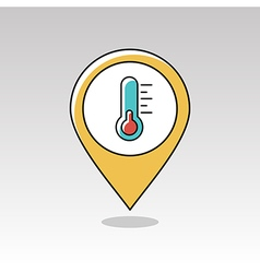 Thermometer pin map icon Meteorology Weather vector
