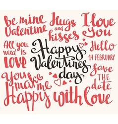 Valentines Day Set of Valentines stylish trendy vector image