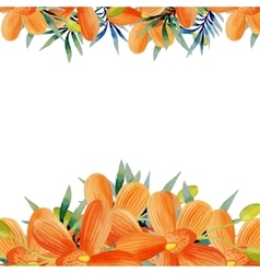 Watercolor flowers frame vector image