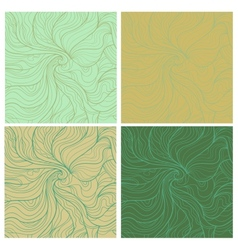 Wavy retro patterns vector