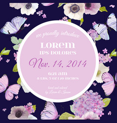 Wedding invitation baby shower template card vector