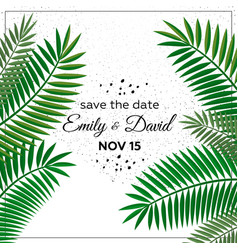 Wedding invitation modern card design vector