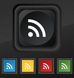 Wifi Wi-fi Wireless Network icon symbol Set of vector image