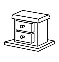 Wooden box drawer vector