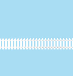 wooden fence white vector image