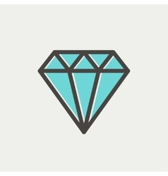 Diamond thin line icon vector image