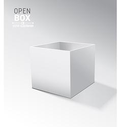 Grey open box with realistic shadows on grey vector image vector image