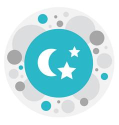 Of folks symbol on night icon vector