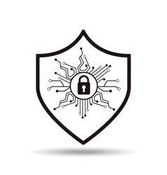 security protection icon vector image vector image
