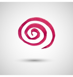 Watercolor spiral design element vector image vector image
