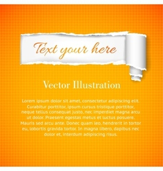 Background in a cage with torn banner vector image vector image
