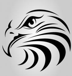 Eagle Face Silhouette vector image