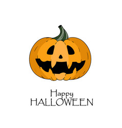 happy halloween concept pumkin with scary face vector image